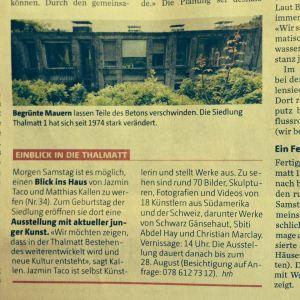 Berner Zeitung - Kunst trifft auf Brutalismus